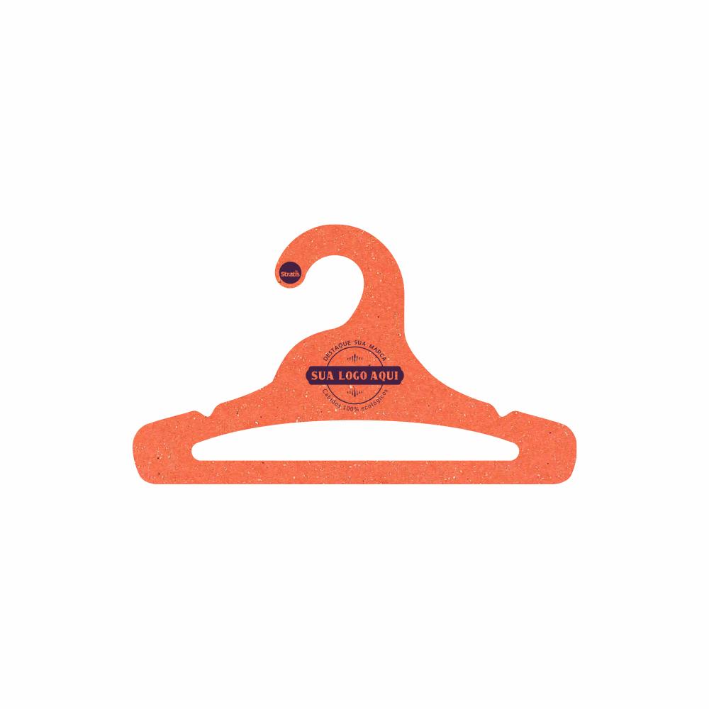 Cabide Ecológico Personalizado com sua Logo - Juvenil Aberto -Laranja - CS103