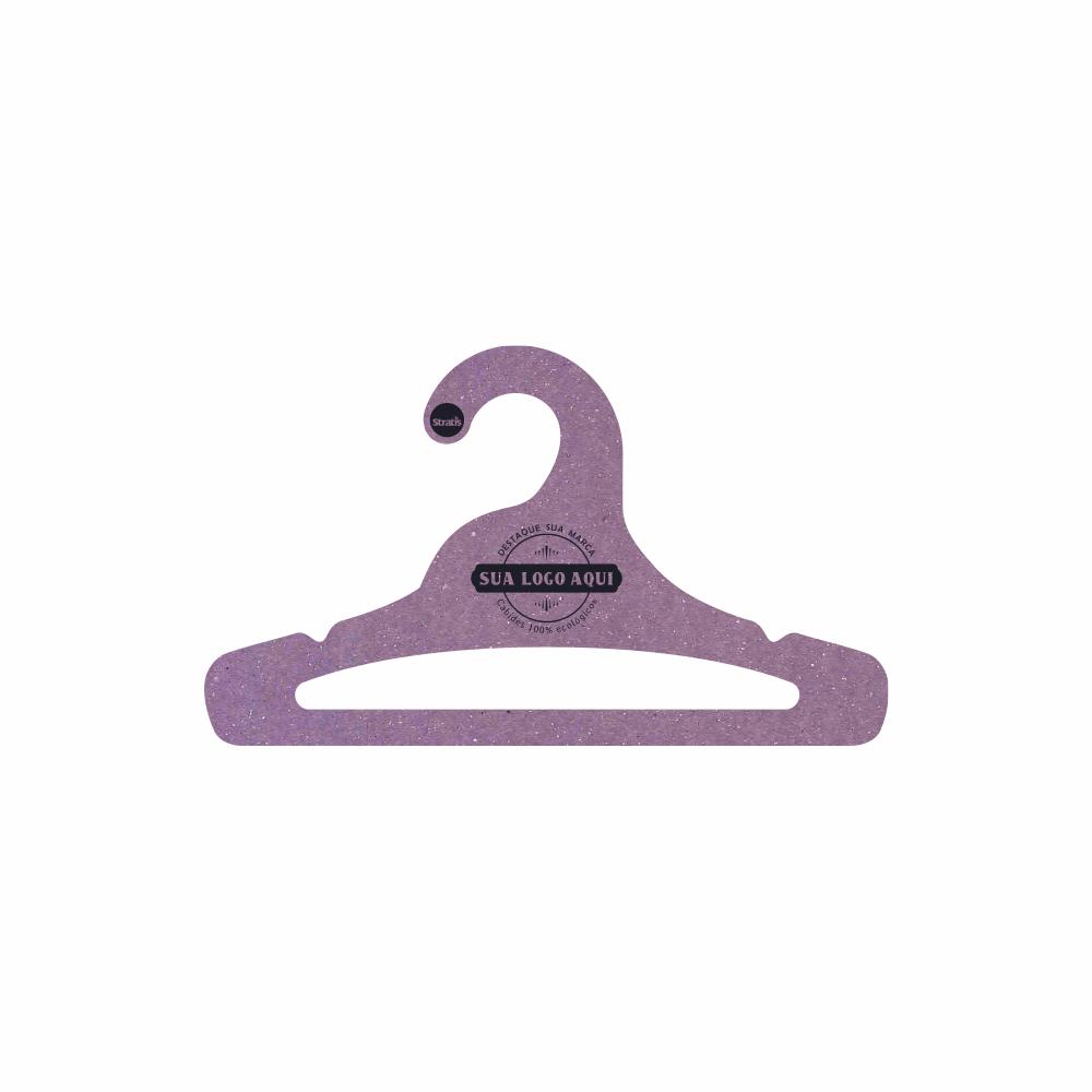 Cabide Ecológico Personalizado com sua Logo - Juvenil Aberto - Lilás- CS103