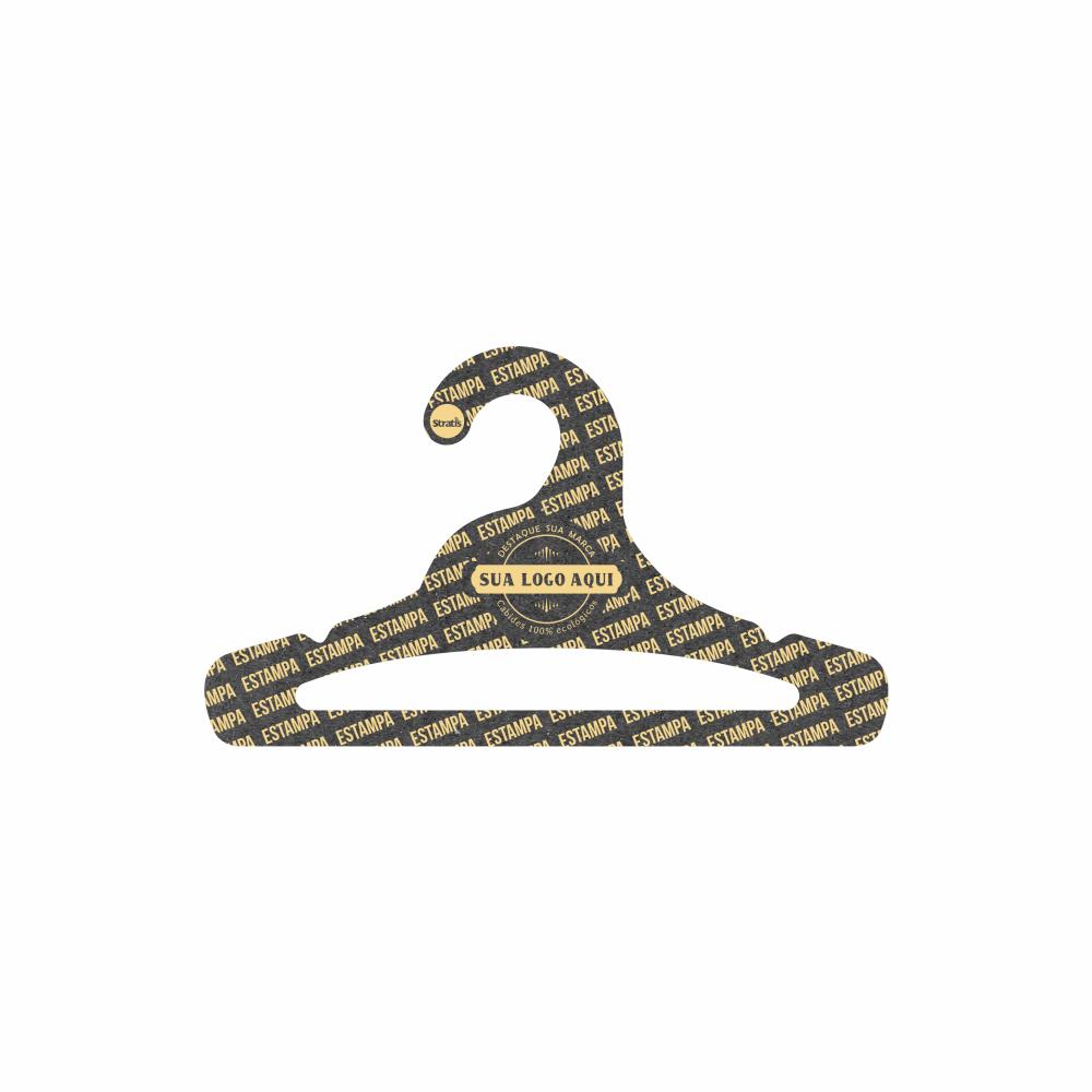 Cabide Ecológico Personalizado com sua Logo - Juvenil Aberto - Preto - CS103