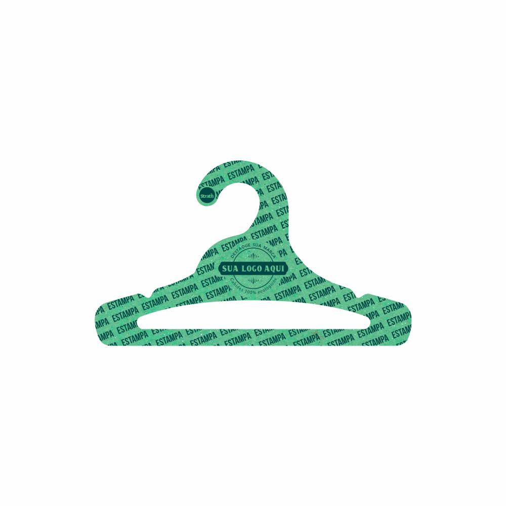 Cabide Ecológico Personalizado com sua Logo - Juvenil Aberto - Verde Claro- CS103