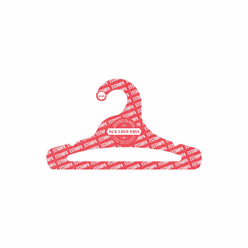 Cabide Ecológico Personalizado com sua Logo -Juvenil  Aberto -Vermelho- CS103