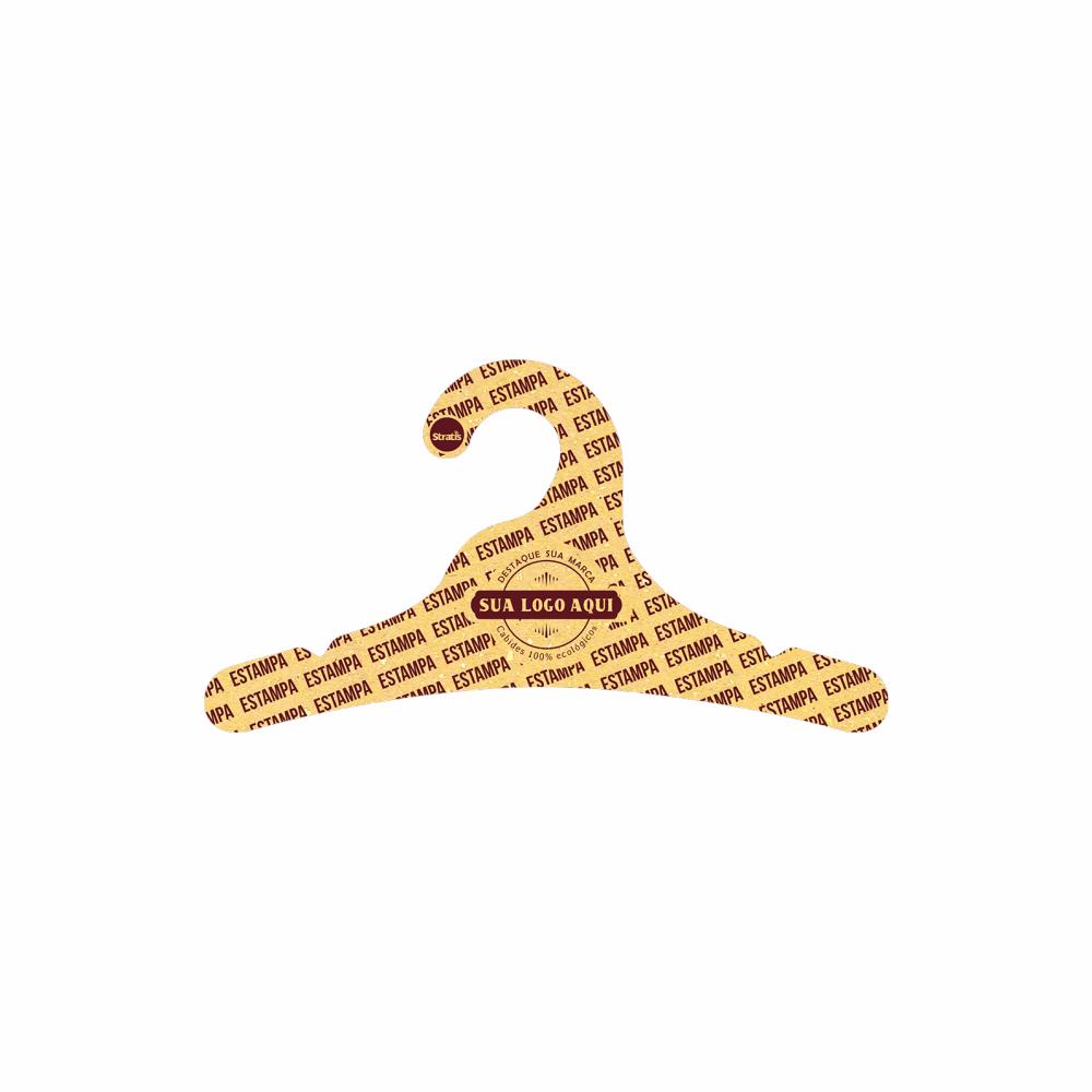 Cabide Ecológico Personalizado com sua Logo - Juvenil  -Amarelo- CS102