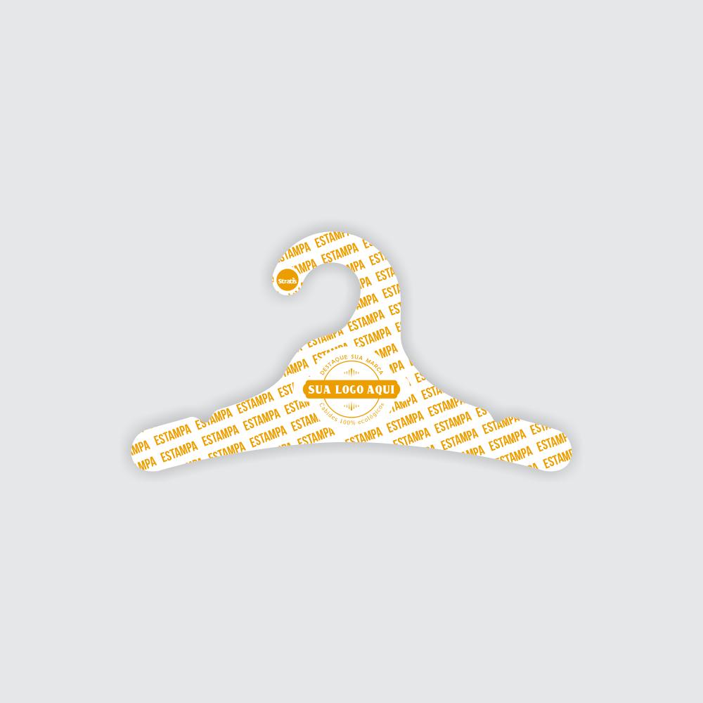 Cabide Ecológico Personalizado com sua Logo - Juvenil - Branco - CS102