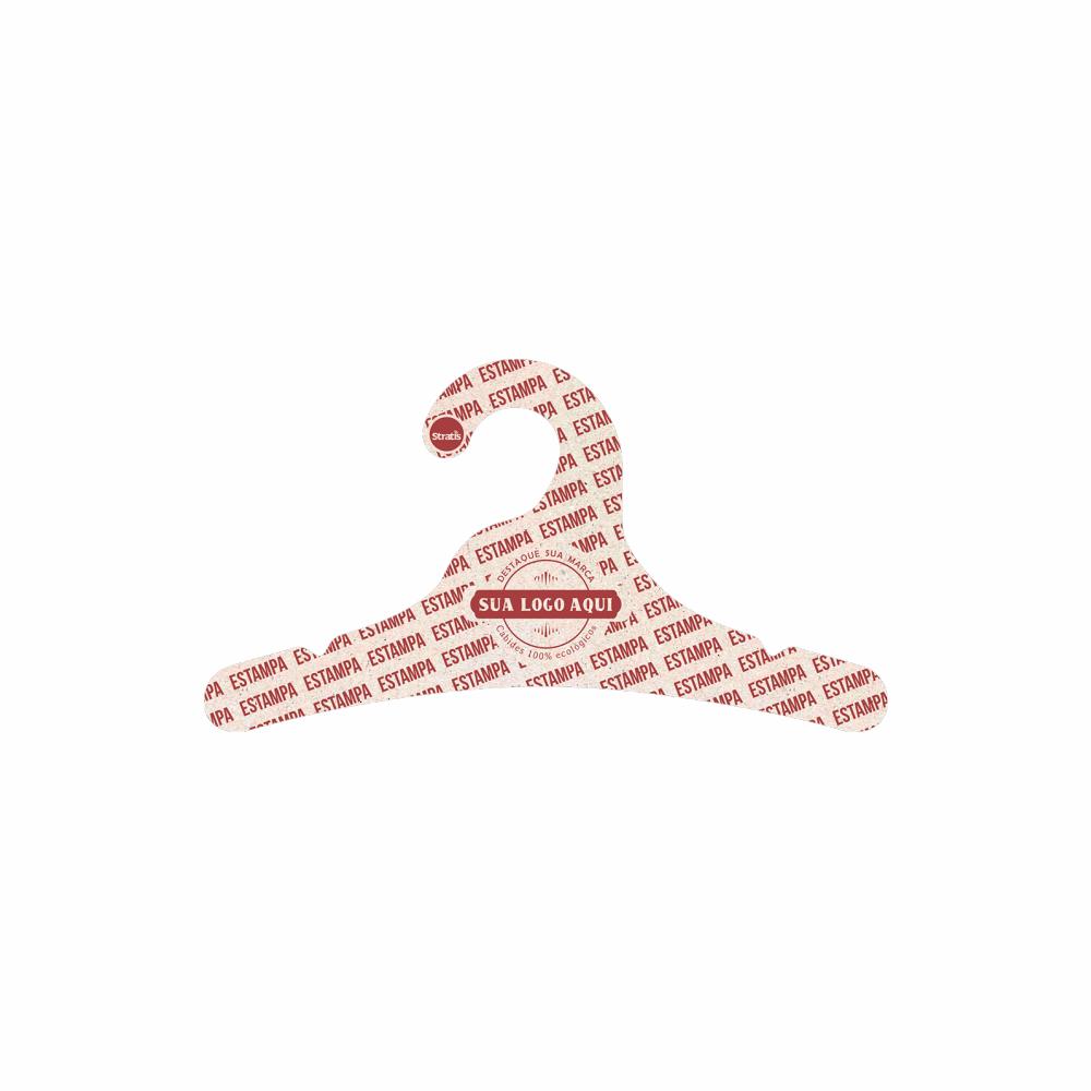 Cabide Ecológico Personalizado com sua Logo - Juvenil - CS102