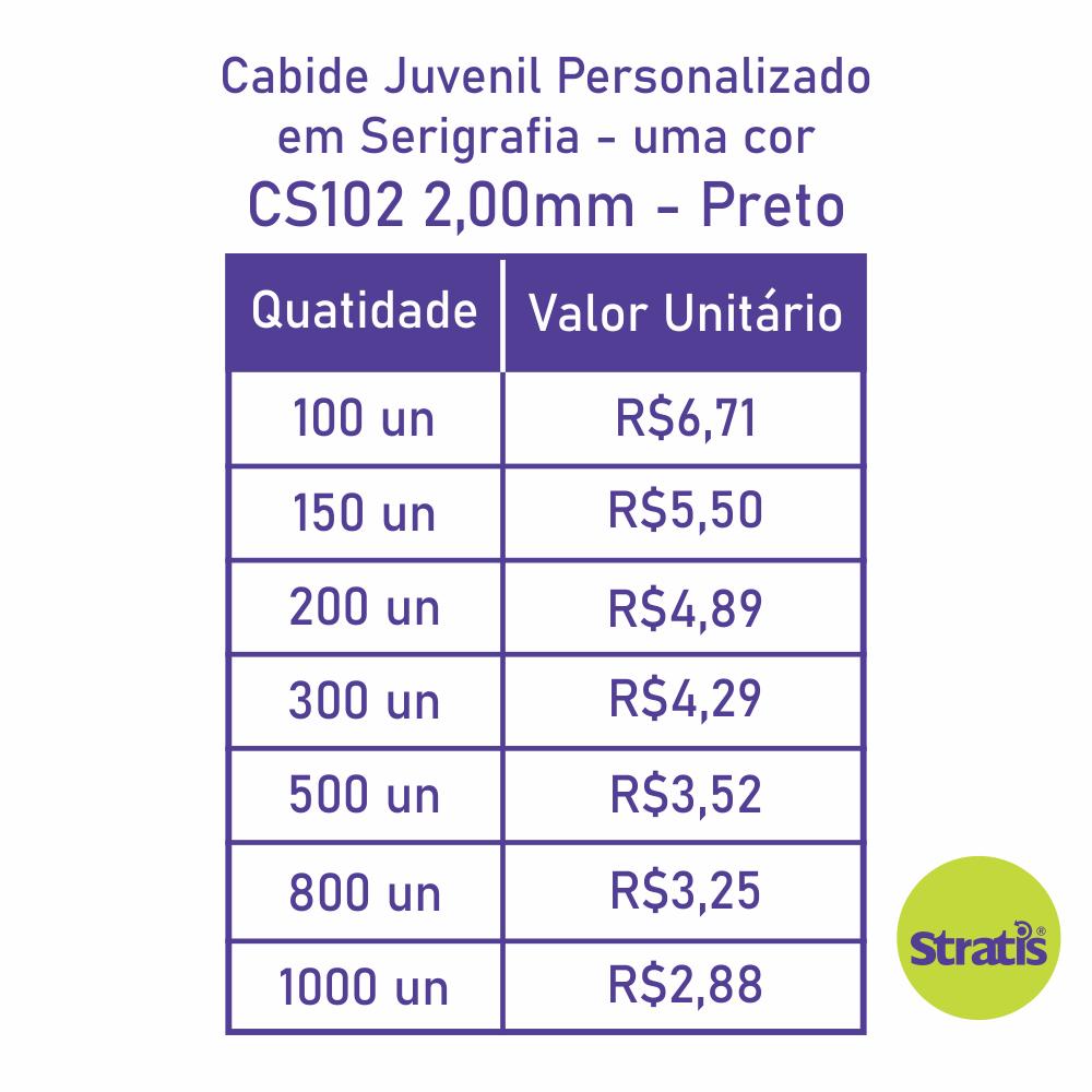 Cabide Ecológico Personalizado com sua Logo - Juvenil - Preto - CS102
