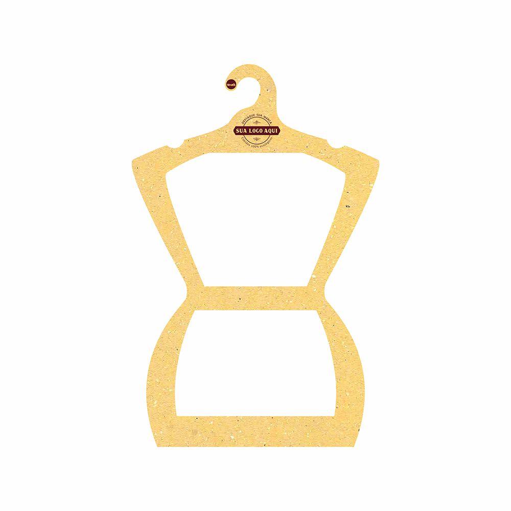 Cabide Ecológico Personalizado com sua Logo - Silhueta Adulto - Amarelo -  CS109