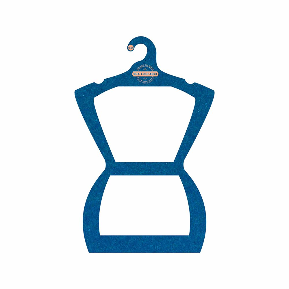 Cabide Ecológico Personalizado com sua Logo - Silhueta Adulto  - Azul Royal - CS109