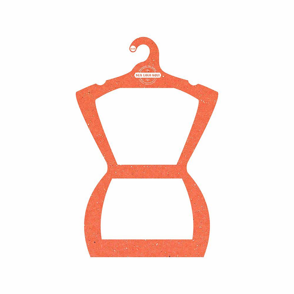 Cabide Ecológico Personalizado com sua Logo - Silhueta Adulto  - Laranja - CS109