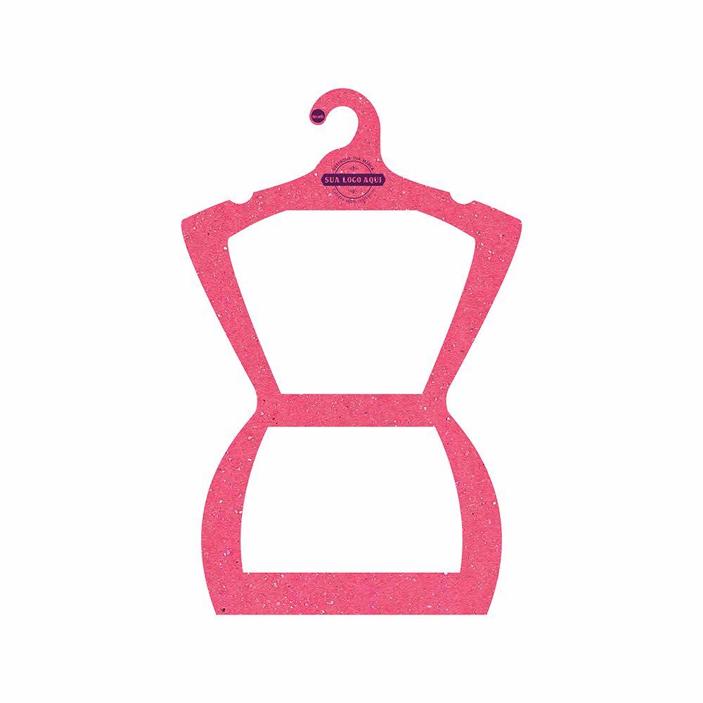 Cabide Ecológico Personalizado com sua Logo - Silhueta Adulto - Rosa - CS109