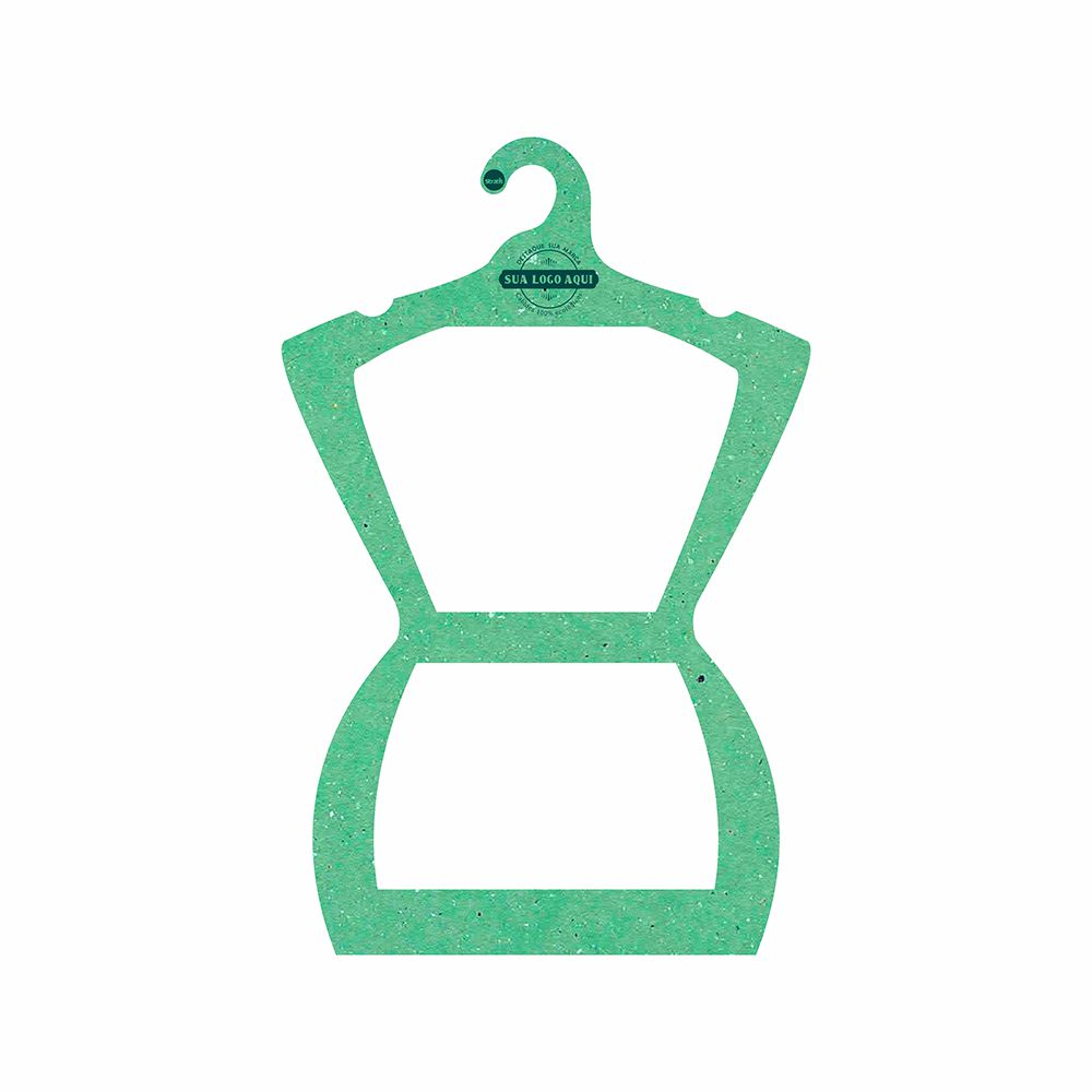 Cabide Ecológico Personalizado com sua Logo - Silhueta Adulto  - Verde Claro - CS109