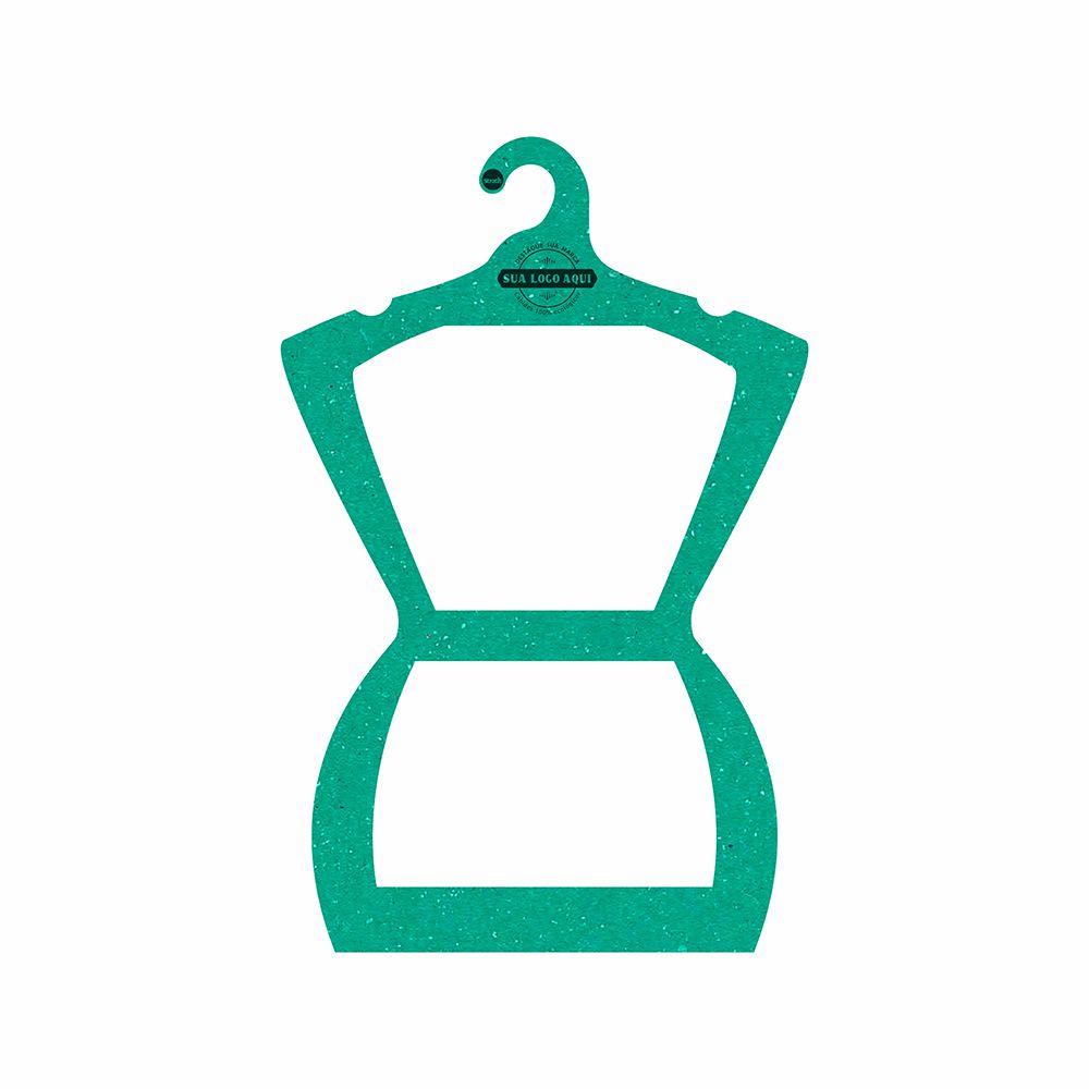 Cabide Ecológico Personalizado com sua Logo - Silhueta Adulto - Verde - CS109