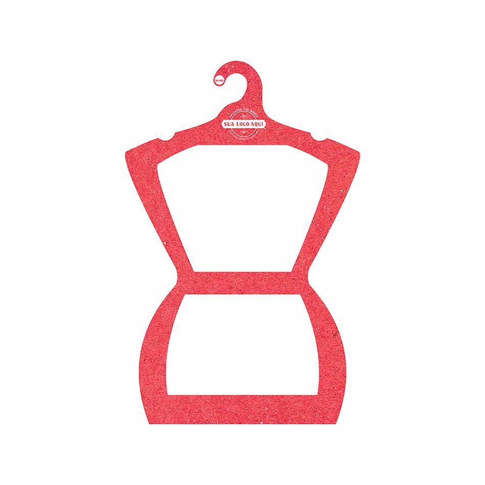 Cabide Ecológico Personalizado com sua Logo - Silhueta Adulto  - Vermelho - CS109