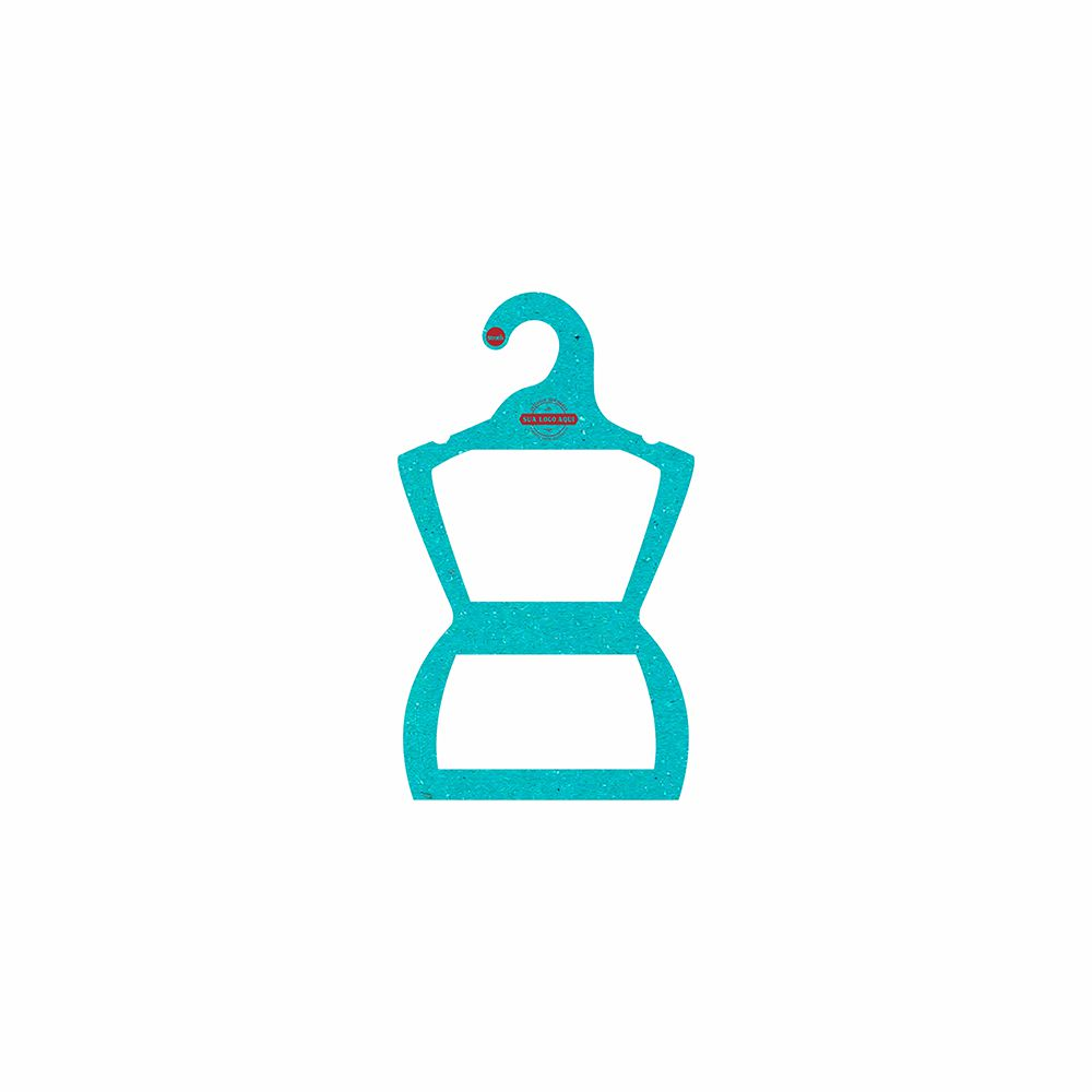 Cabide Ecológico Personalizado com sua Logo - Silhueta Bebê -Azul Ciano CS106