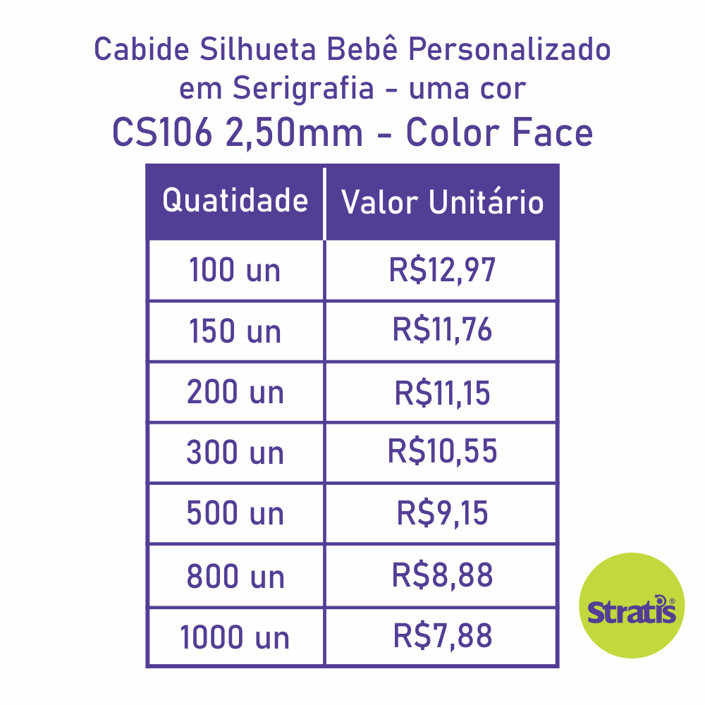 Cabide Ecológico Personalizado com sua Logo - Silhueta Bebê - CS106