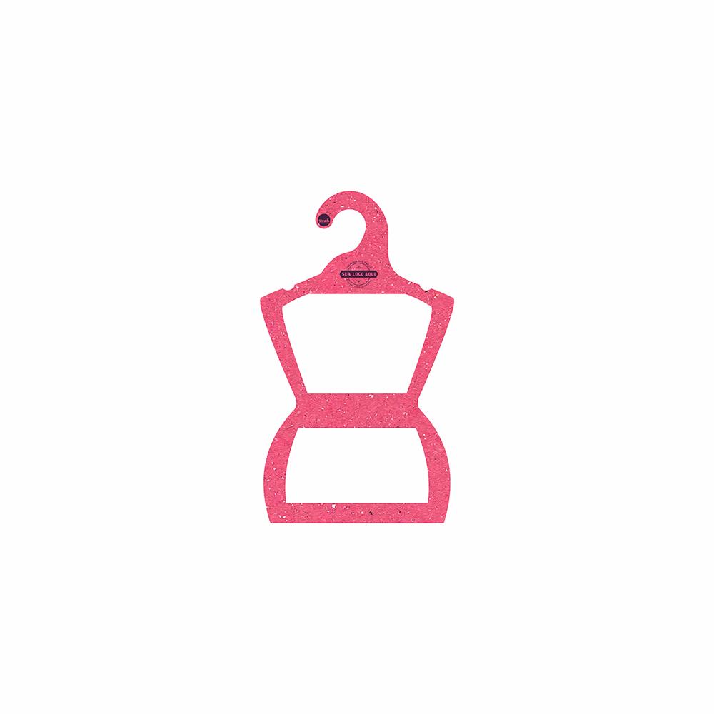 Cabide Ecológico Personalizado com sua Logo - Silhueta Bebê - Rosa - CS106