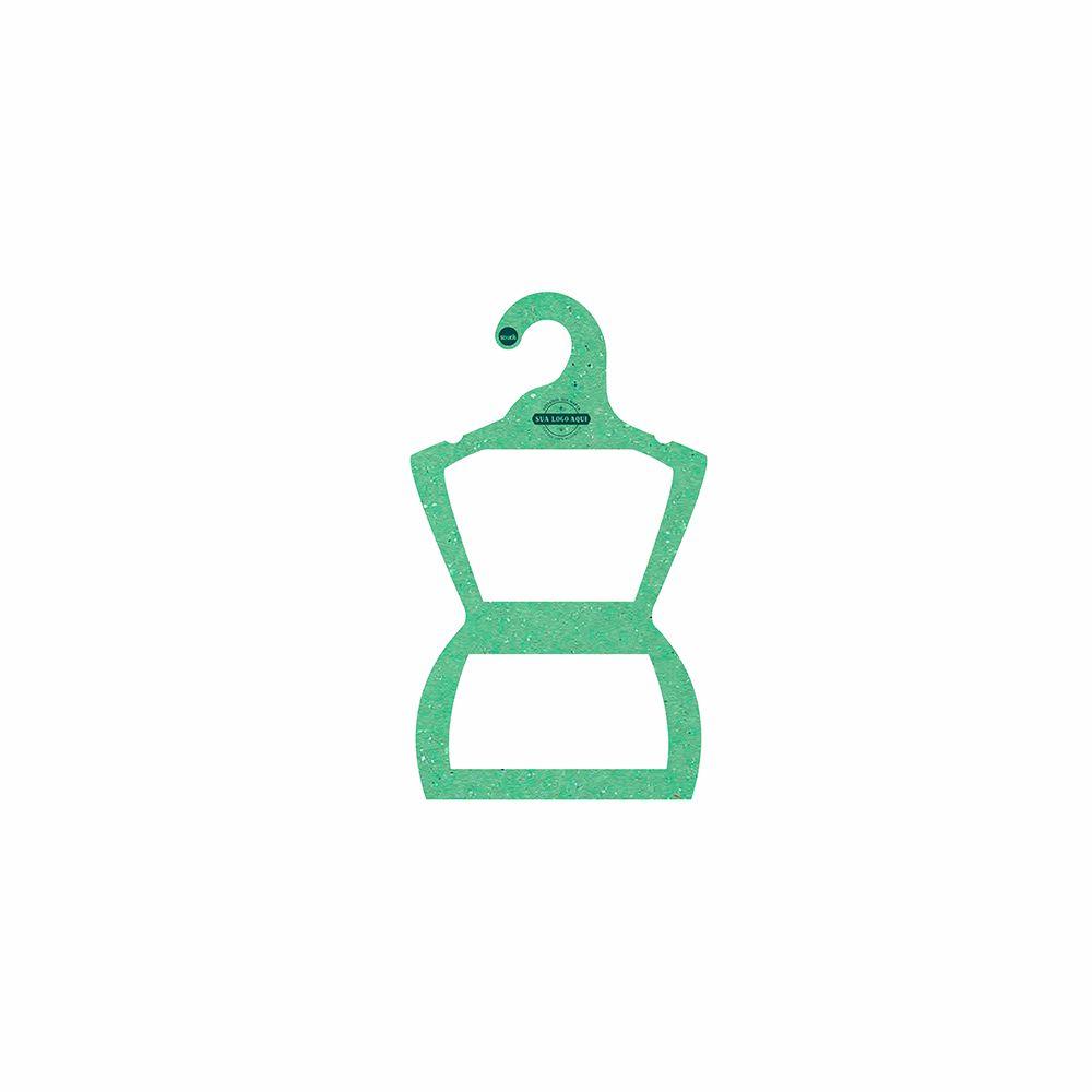 Cabide Ecológico Personalizado com sua Logo - Silhueta Bebê - Verde Claro - CS106