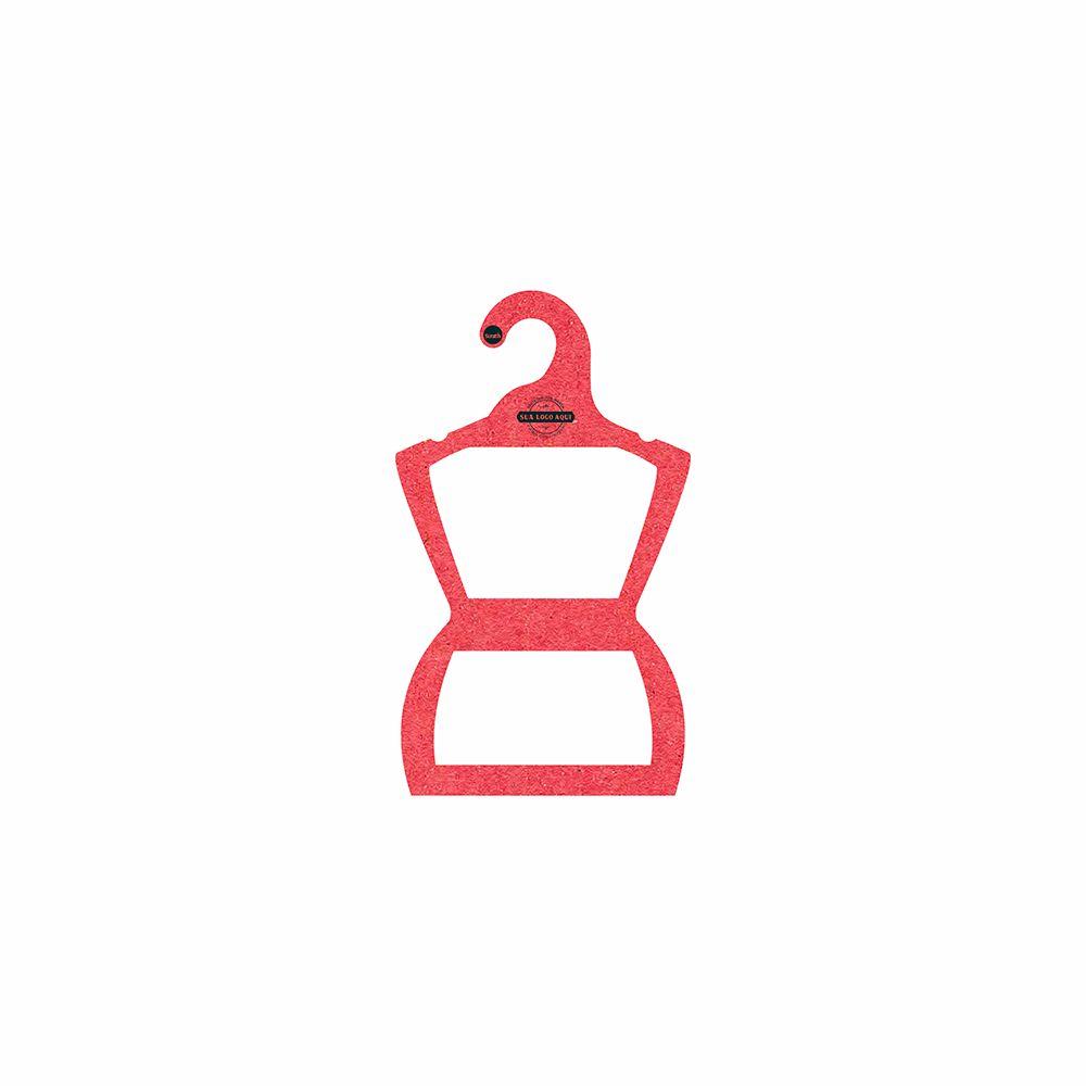 Cabide Ecológico Personalizado com sua Logo - Silhueta Bebê - Vermelho - CS106