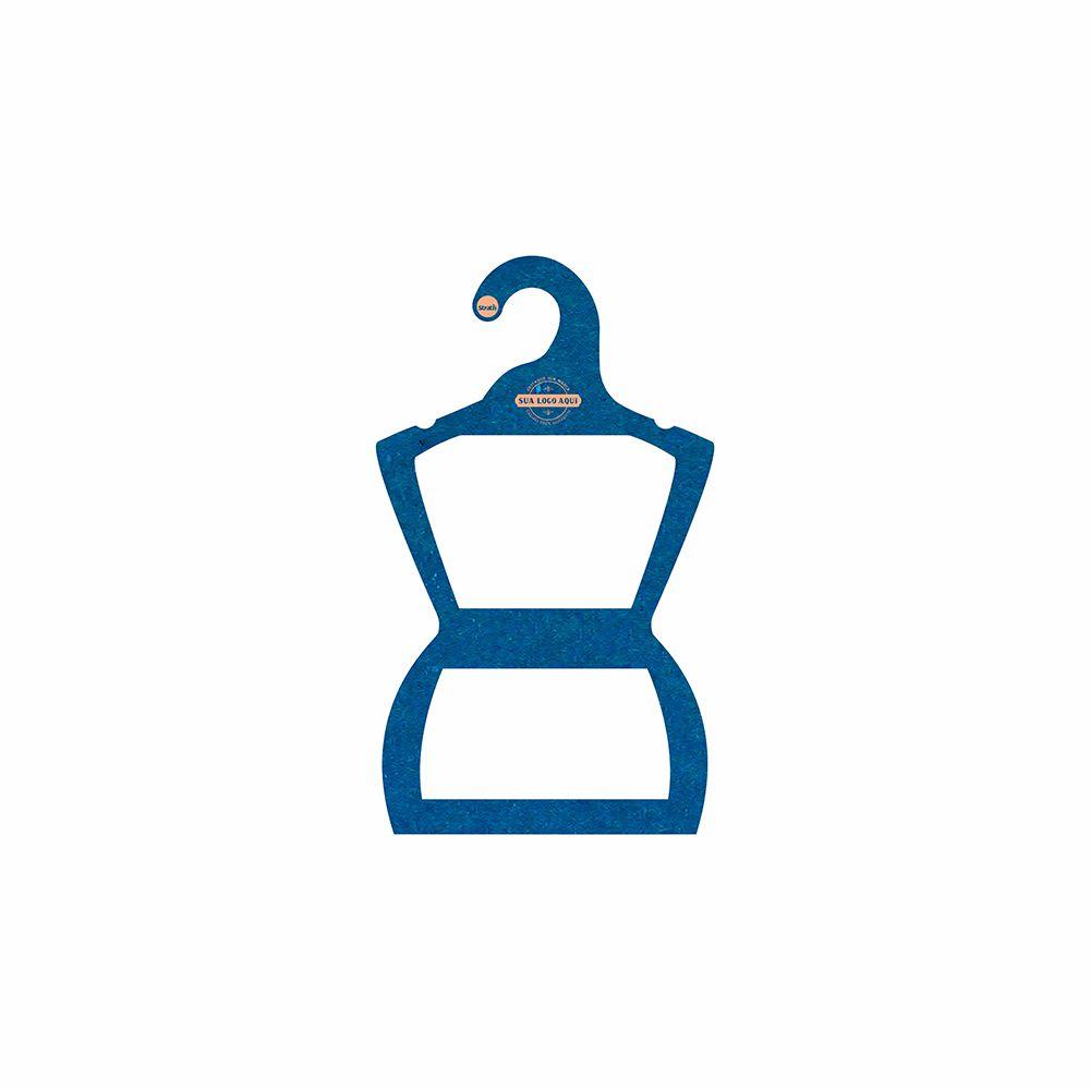 Cabide Ecológico Personalizado com sua Logo - Silhueta Infantil  - Azul Royal - CS107