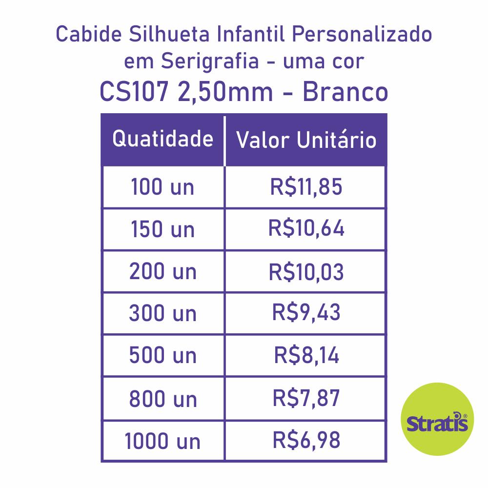 Cabide Ecológico Personalizado com sua Logo - Silhueta Infantil  - Branco - CS107