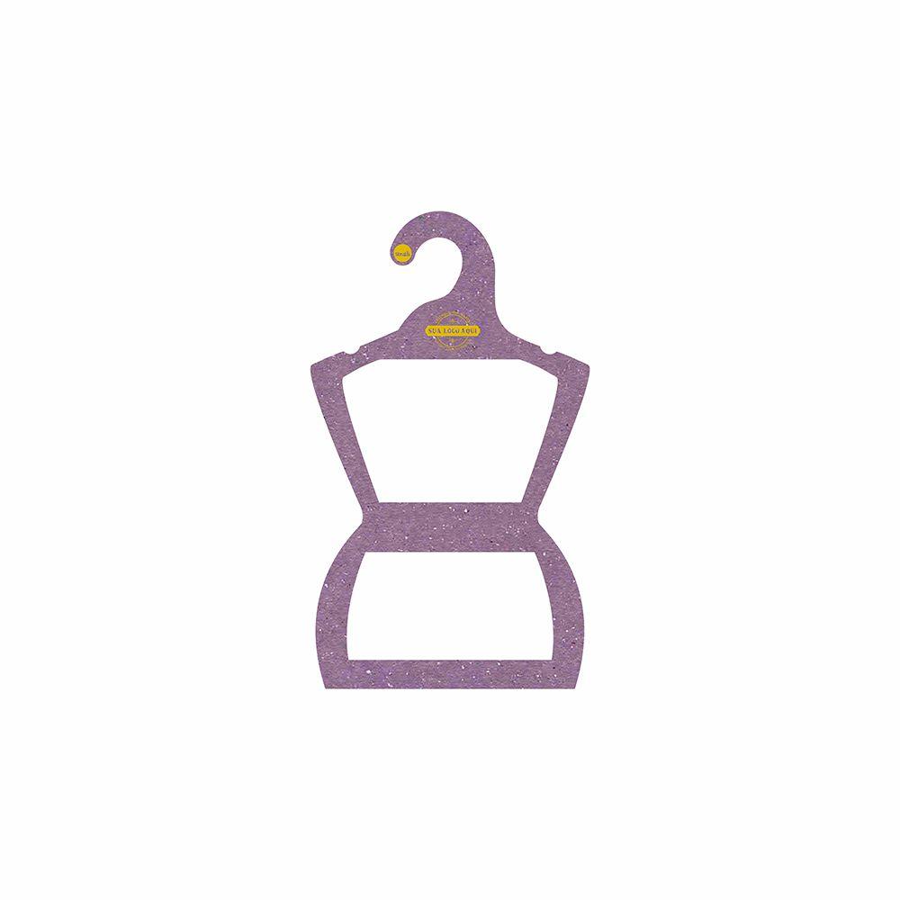Cabide Ecológico Personalizado com sua Logo - Silhueta Infantil  - Lilás - CS107