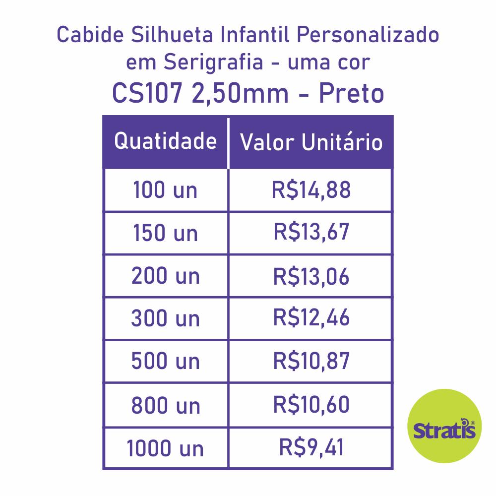 Cabide Ecológico Personalizado com sua Logo - Silhueta Infantil  - Preto - CS107