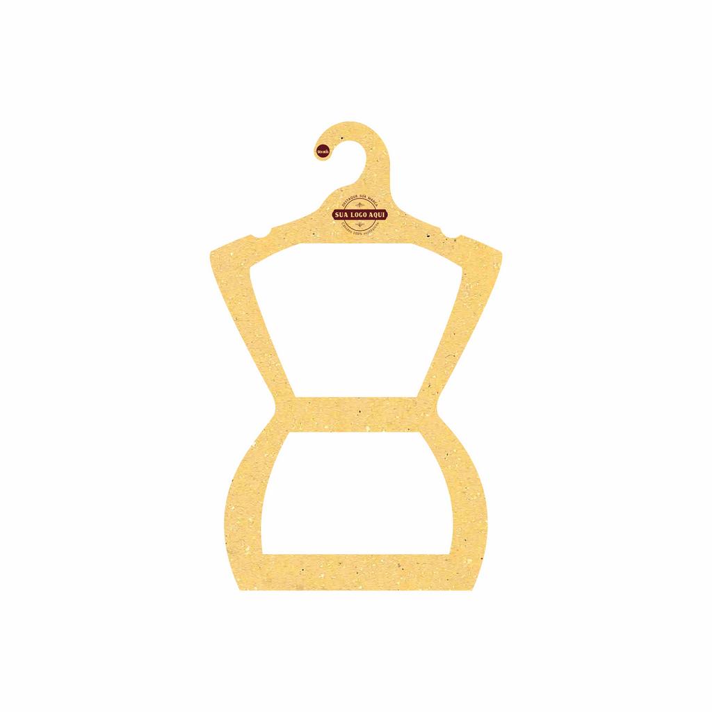 Cabide Ecológico Personalizado com sua Logo - Silhueta Juvenil - Amarelo -  CS108
