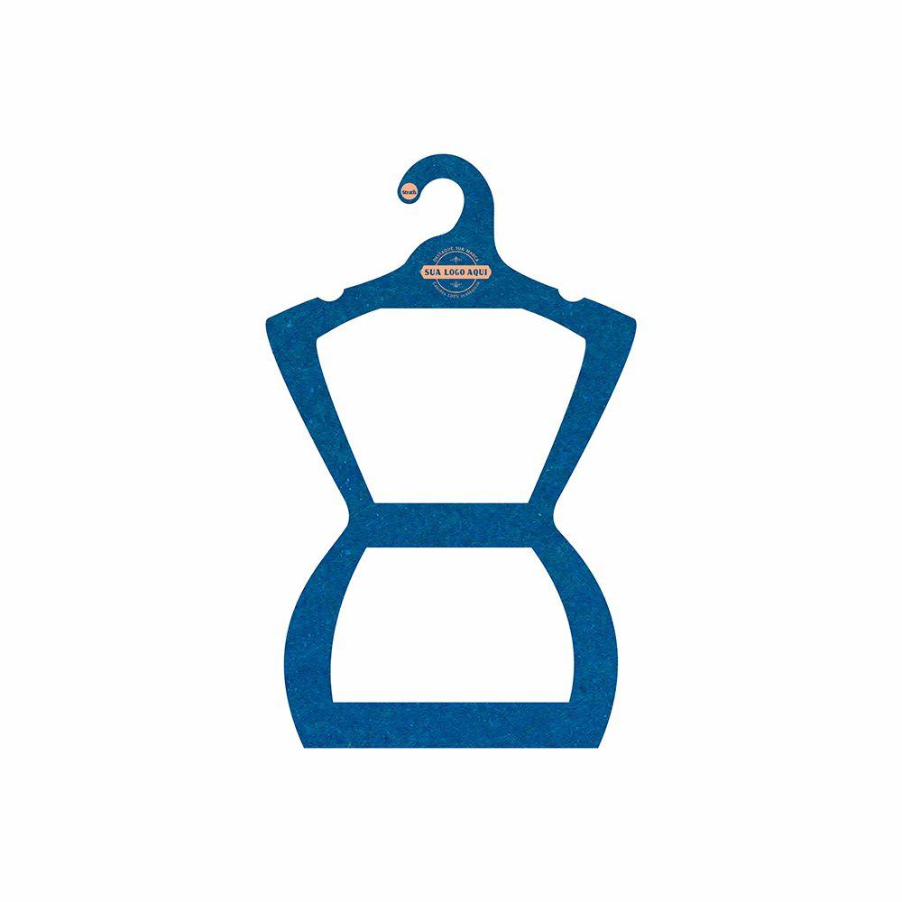 Cabide Ecológico Personalizado com sua Logo - Silhueta Juvenil  - Azul Royal - CS108