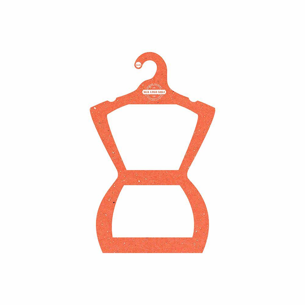Cabide Ecológico Personalizado com sua Logo - Silhueta Juvenil  - Laranja - CS108