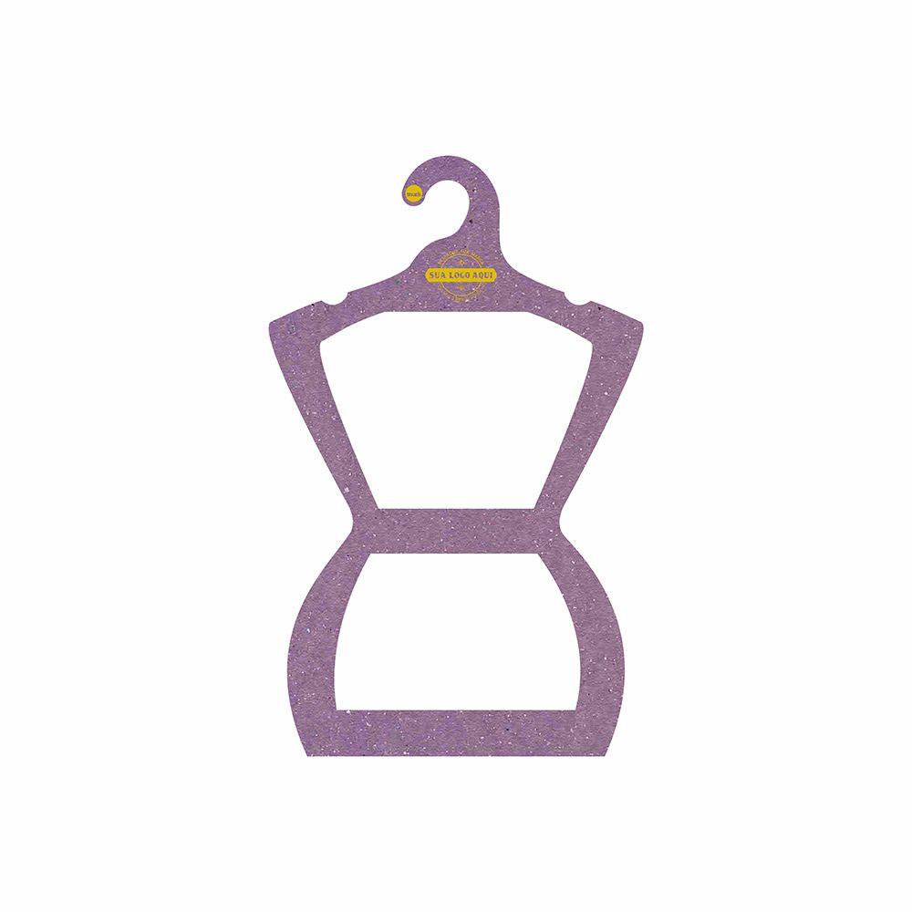 Cabide Ecológico Personalizado com sua Logo - Silhueta Juvenil  - Lilás - CS108