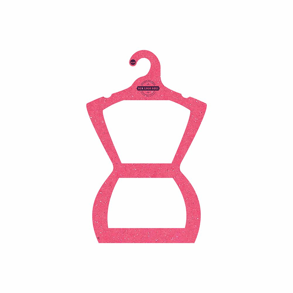 Cabide Ecológico Personalizado com sua Logo - Silhueta Juvenil - Rosa - CS108