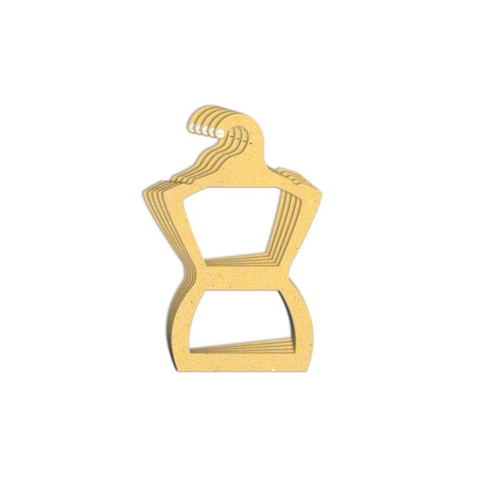 Cabide Ecológico Silhueta Adulto - Amarelo -  CS109