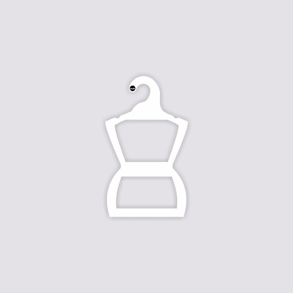 Cabide Ecológico Silhueta Bebê - Branco - CS106