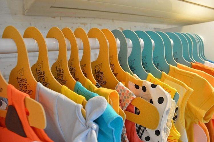Cabide Ecológico Silhueta Infantil - Amarelo - CS107