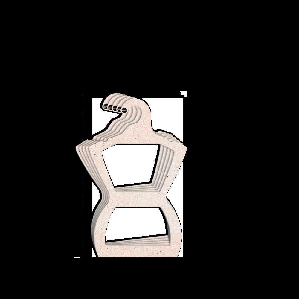Cabide Ecológico Silhueta Infantil - CS107