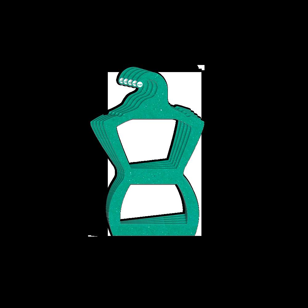 Cabide Ecológico Silhueta Infantil - Verde - CS107