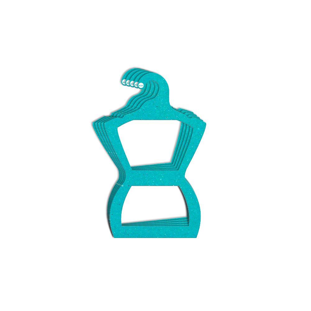 Cabide Ecológico Silhueta Juvenil - Azul Ciano - CS108