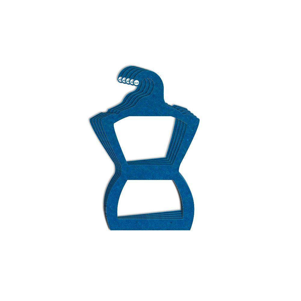 Cabide Ecológico Silhueta Juvenil - Azul Royal - CS108