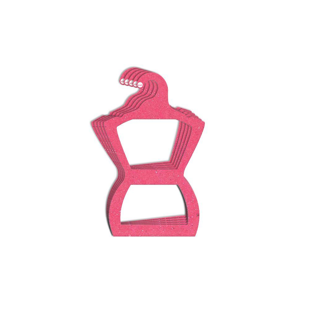 Cabide Ecológico Silhueta Juvenil - Rosa - CS108