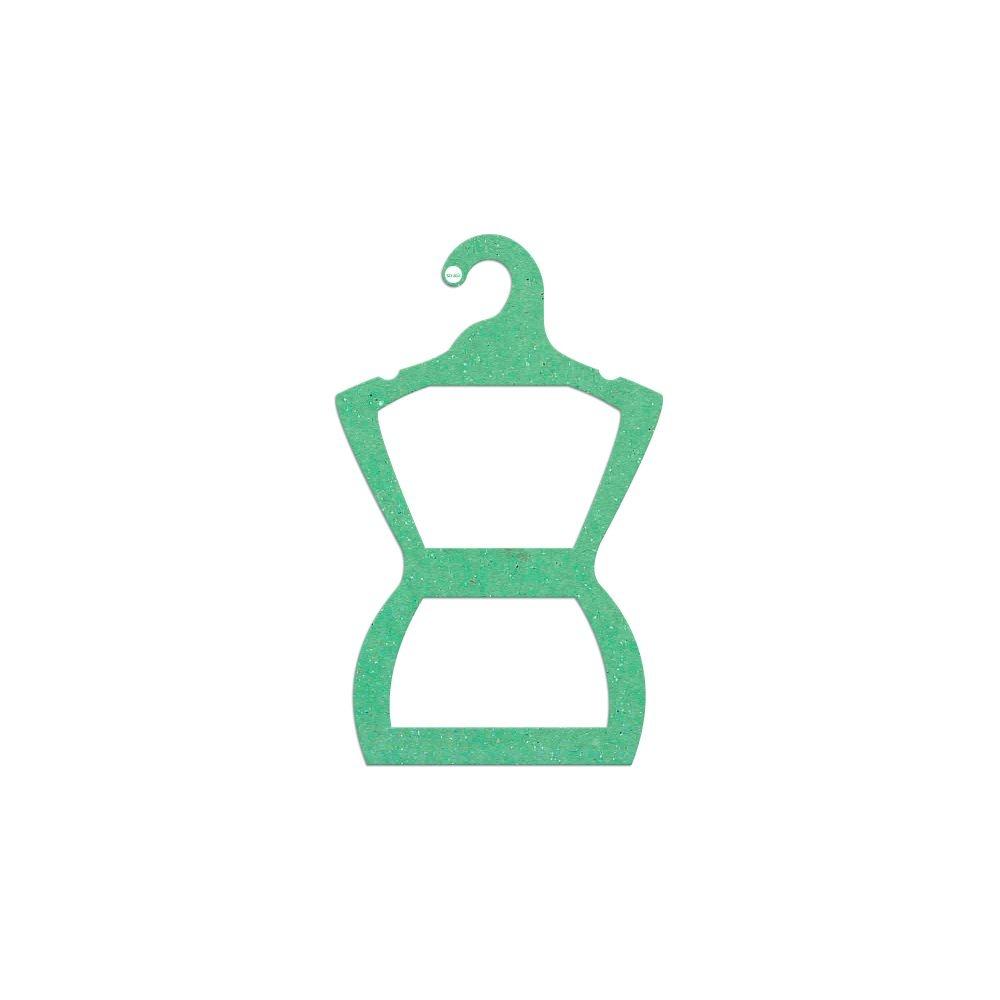 Cabide Ecológico Silhueta Juvenil - Verde Claro - CS108