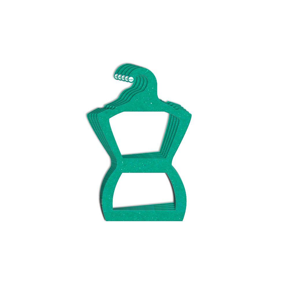 Cabide Ecológico Silhueta Juvenil - Verde - CS108