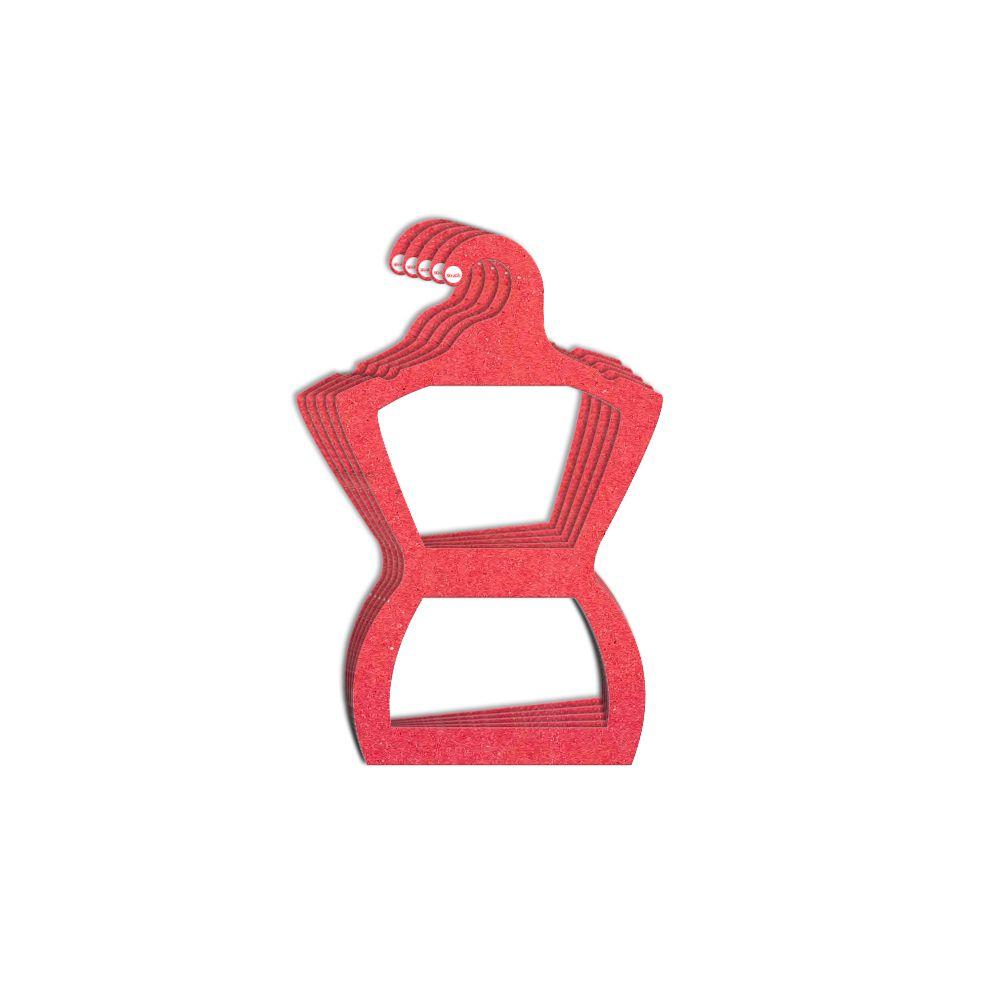 Cabide Ecológico Silhueta Juvenil - Vermelho - CS108