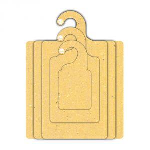 Kit Gabarito Ecológico  para Dobras de Roupas - Amarelo - CS506