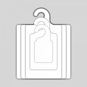 Kit Gabarito Ecológico  para Dobras de Roupas - Branco - CS506