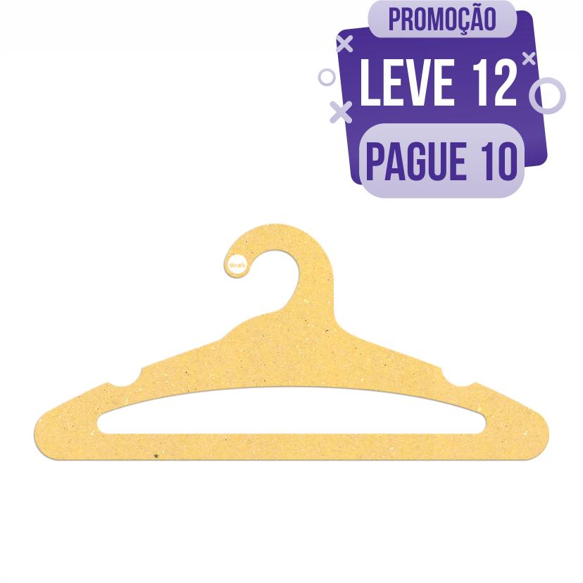 Leve 12 Pague 10  - Cabide Ecológico Adulto Aberto -  Amarelo - CS105