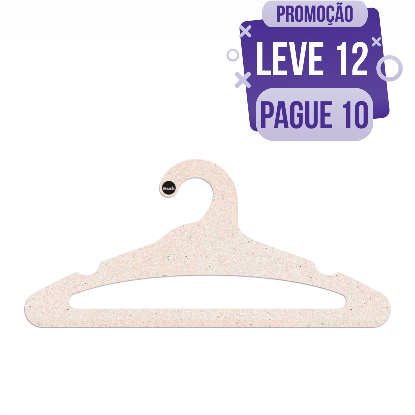 Leve 12 Pague 10  - Cabide Ecológico Adulto Aberto - CS105