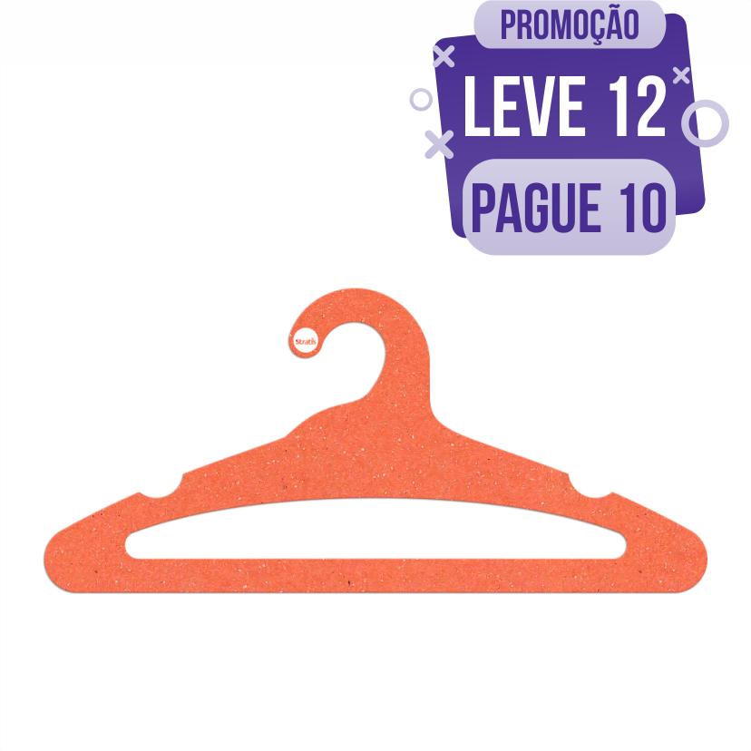 Leve 12 Pague 10  - Cabide Ecológico Adulto Aberto-  Laranja - CS105