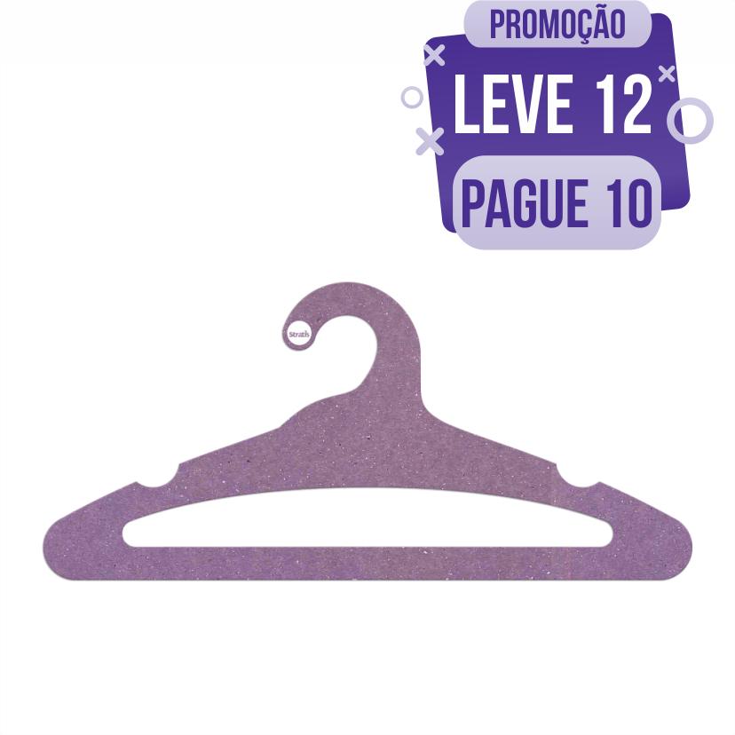 Leve 12 Pague 10  - Cabide Ecológico Adulto Aberto - Lilás - CS105