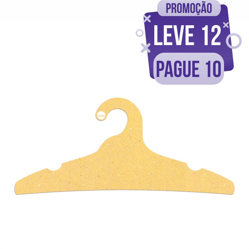 Leve 12 Pague 10  - Cabide Ecológico Adulto -  Amarelo - CS104