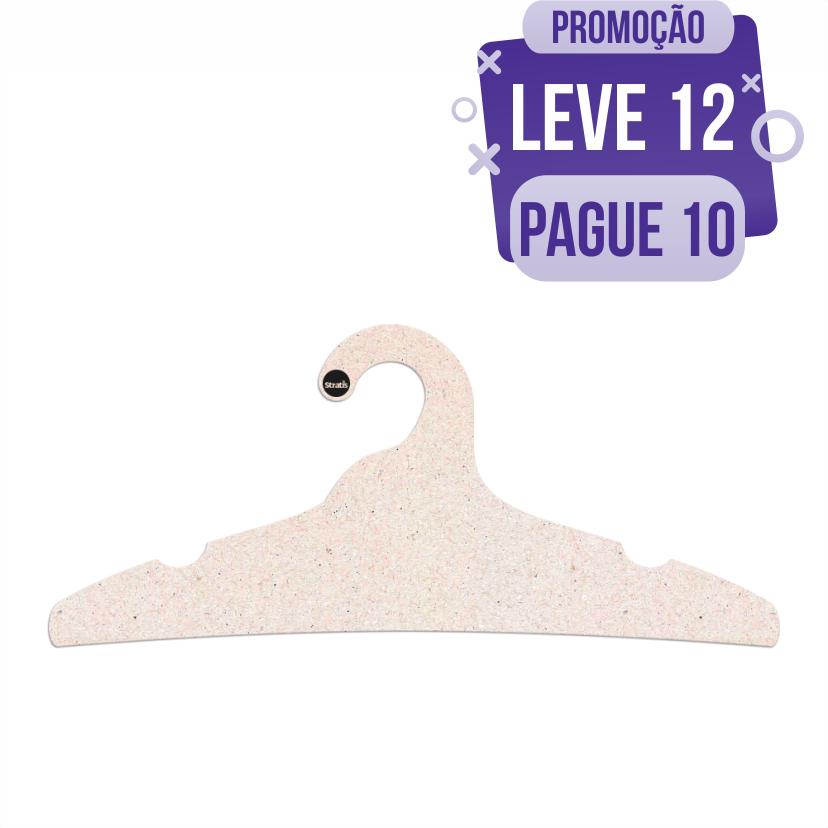 Leve 12 Pague 10  - Cabide Ecológico Adulto - CS104