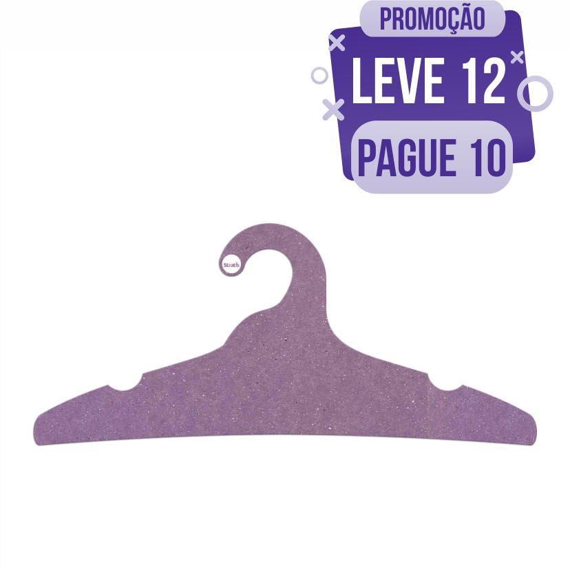 Leve 12 Pague 10  - Cabide Ecológico Adulto - Lilás - CS104